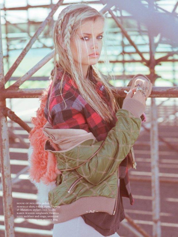 estilo grunge inverno 2014 camisa xadrez frida-aasen-shoot4