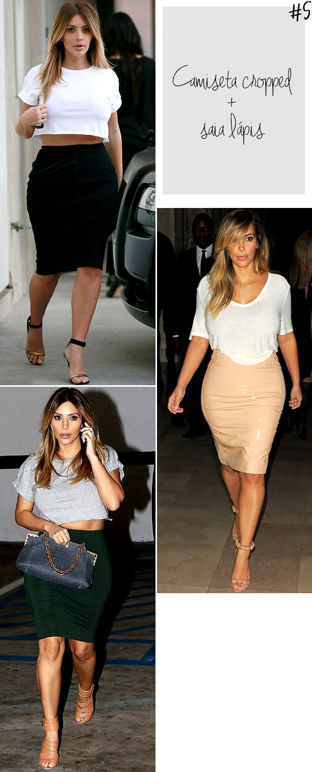 kim kardashian t-shirt camiseta cropped saia lápis blog got sin 2