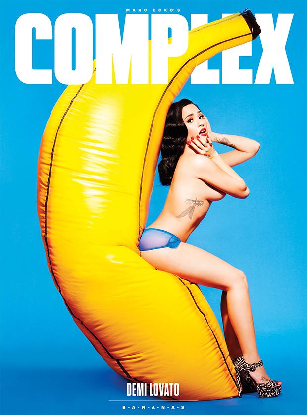 Demi Lovato revista Complex capa cover bananas pinup blog got sin 01