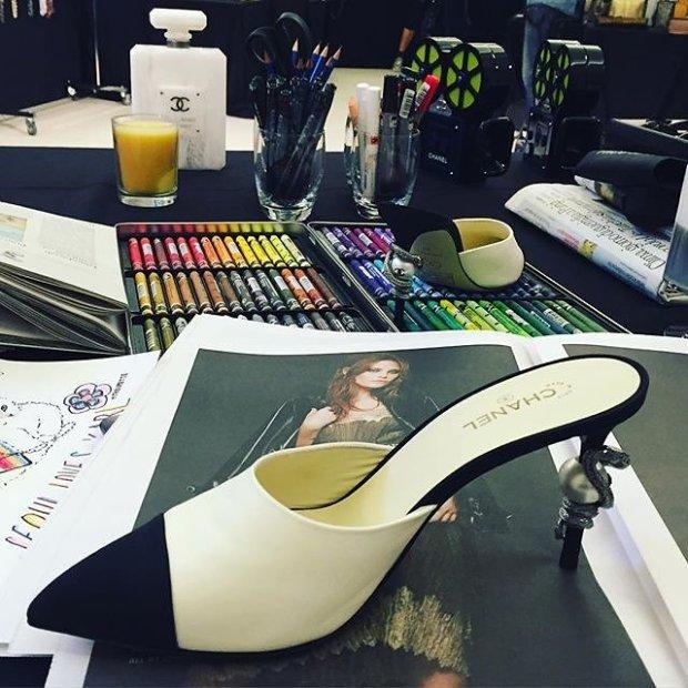 chanel pre fall 2016 moda e cinema 60s desfile blog got sin sapato mule