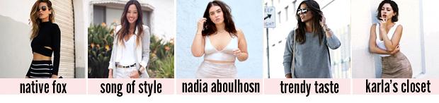 top 5 favoritos - blogueiras