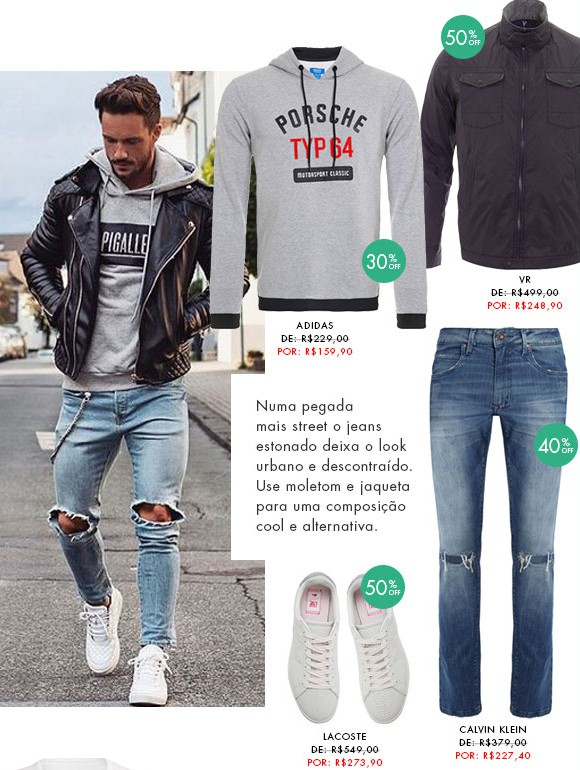 moda masculina dica de looks para homens jeans estonado destroyed detonado blog got sin