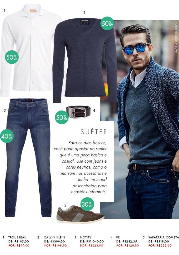 moda masculina dica de looks para homens suéter blog got sin