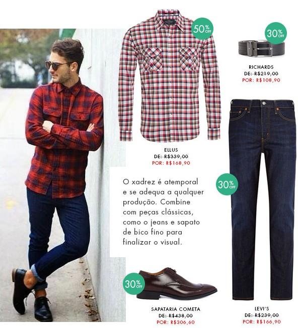 moda masculina dica de looks para homens xadrez blog got sin