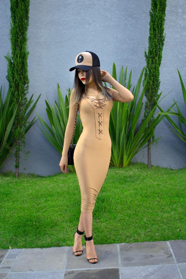 sininhu sylvia santini meu look Stay Iriê boné vestido amarração nude bodycon moda blog got sin 02