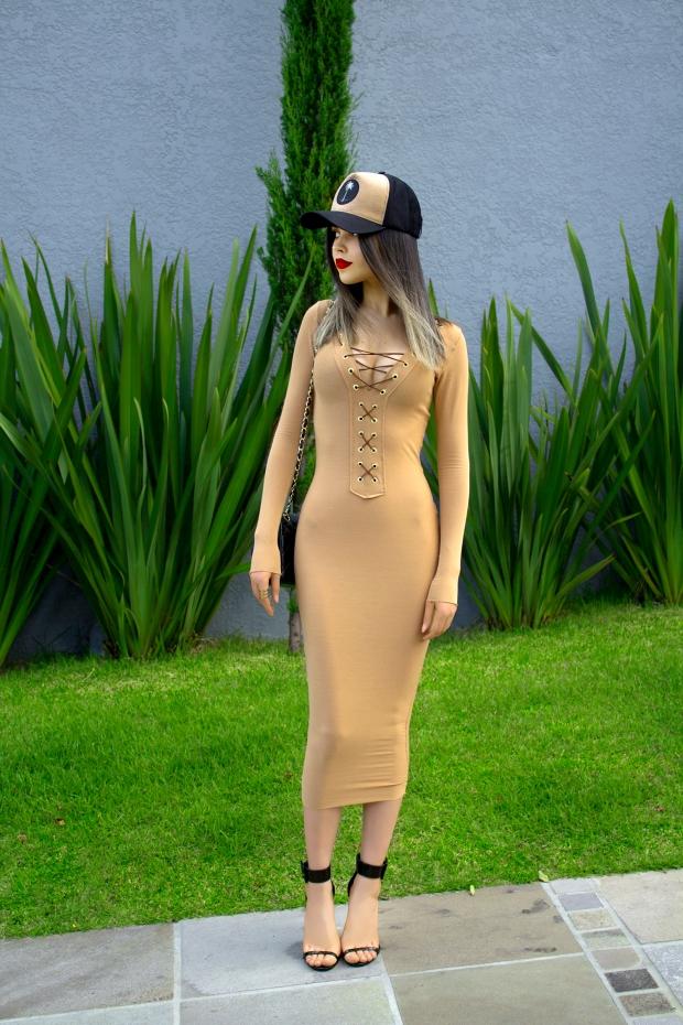 sininhu sylvia santini meu look Stay Iriê boné vestido amarração nude bodycon moda blog got sin 03