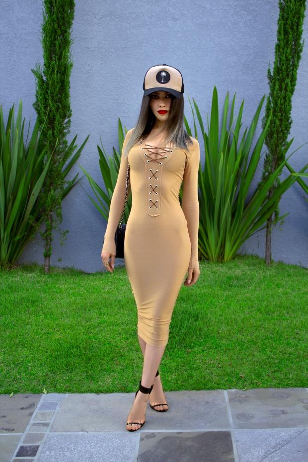 sininhu sylvia santini meu look Stay Iriê boné vestido amarração nude bodycon moda blog got sin 04