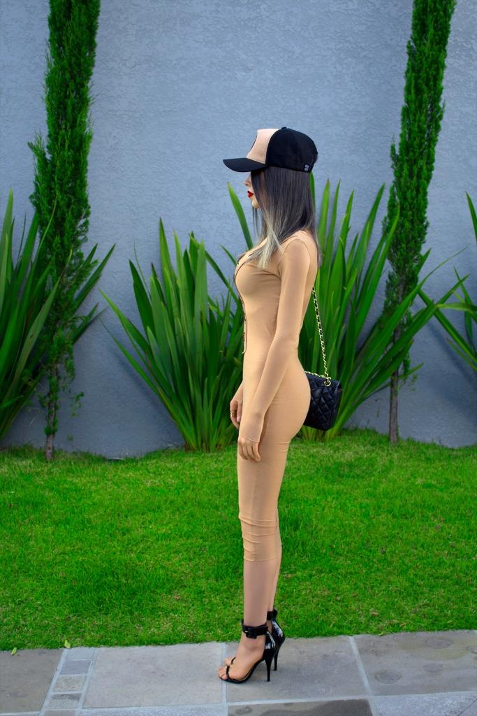 sininhu sylvia santini meu look Stay Iriê boné vestido amarração nude bodycon moda blog got sin 05