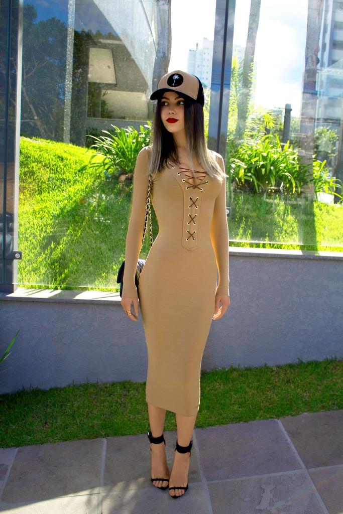 sininhu sylvia santini meu look Stay Iriê boné vestido amarração nude bodycon moda blog got sin 09