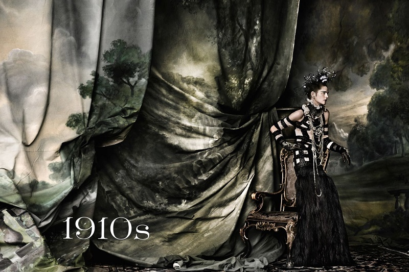 01-Vogue-UK-junho-2016-–-Stella-Tennant-por-Mario-Testino-Décadas-–-1910s