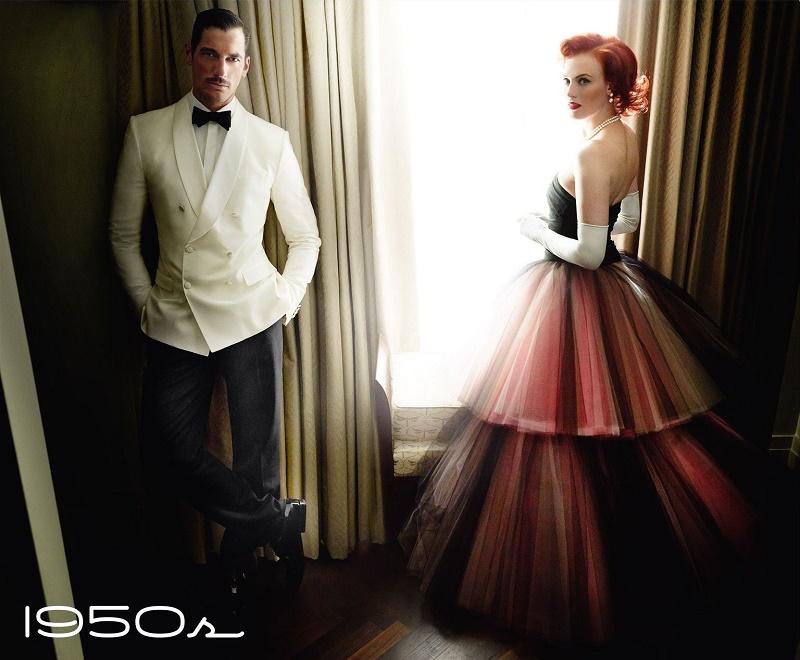 05-Vogue-UK-junho-2016-–-David-Gandy-e-Karen-Elson-por-Mario-Testino-Décadas-–-1950s