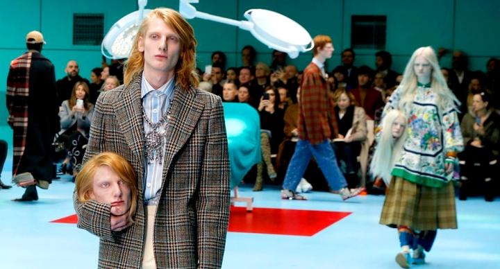 Desfile da Gucci – as cabeças cortadas, o manifesto ciborgue e nossa construção socialmilimétrica